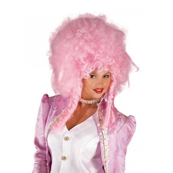 Αποκριάτικη Περούκα Δούκισσας Ροζ