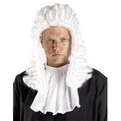 Αποκριάτικη Περούκα Δικαστή Λευκή
