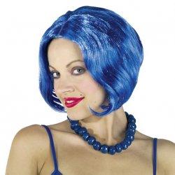 Αποκριάτικη Περούκα Καρέ Μπλε