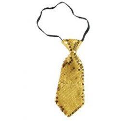 Αποκριάτικο Αξεσουάρ Γραβάτα Χρυσή 2