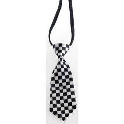 Αποκριάτικο Αξεσουάρ Γραβάτα Καρό Άσπρο-Μαύρο