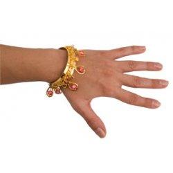 Αποκριάτικο Αξεσουάρ Περιβραχιόνιο Χρυσό, με Χάντρες (6 Χρώματα)