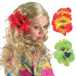 Αποκριάτικο Αξεσουάρ Χαβανέζικο Λουλούδι Μαλλιών Πράσινο, με Κλιπ