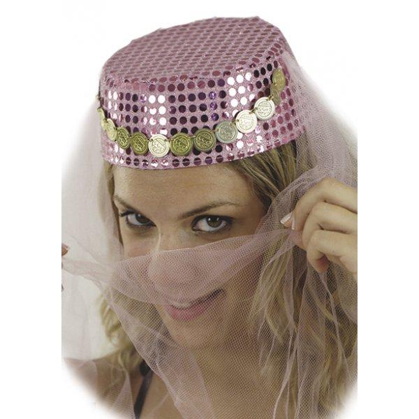 Αποκριάτικο Αξεσουάρ Καπέλο Χανούμισσας με Πέπλο