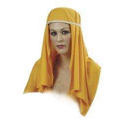 Αποκριάτικο Καπέλο Χανούμισσας Κίτρινο