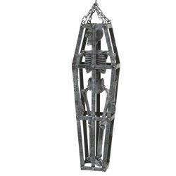 Αποκριάτικο Διακοσμητικό Τρόμου Φέρετρο με Σκελετό