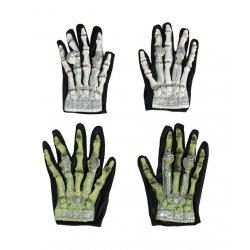 Αποκριάτικο Αξεσουάρ Γάντια Σκελετού - 2 Χρώματα