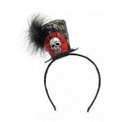 Αποκριάτικη Στέκα Μαλλιών Καπέλο με Νεκροκεφαλή
