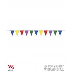 Αποκριάτικο Αξεσουάρ Γιρλάντα Σημαία Πολύχρωμη - 10μ.