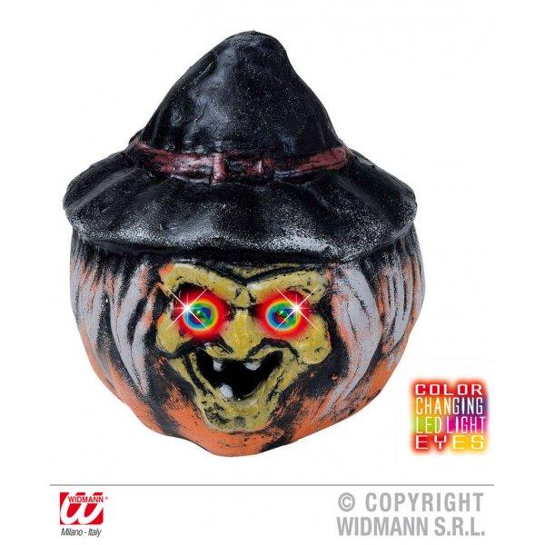 Αποκριάτικο Φωτιζόμενο Κεφάλι Μάγισσας με Πολύχρωμα LED