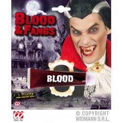 Αποκριάτικο Αξεσουάρ Δόντια Δράκουλα με Αίμα