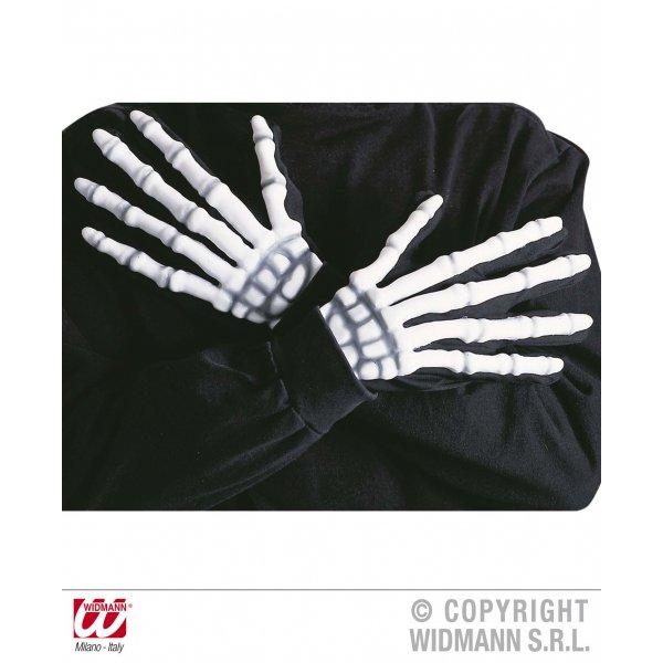 Αποκριάτικα Γάντια Σκελετού Φωσφορίζοντα