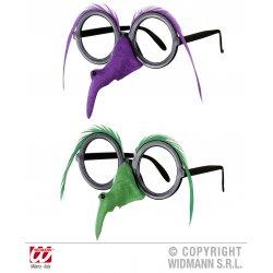 Αποκριάτικα Γυαλιά με Μύτη Μάγισσας (2 χρώματα)