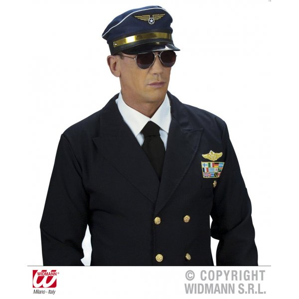 Αποκριάτικα Γυαλιά Πιλότου Ασημί Σκελετός