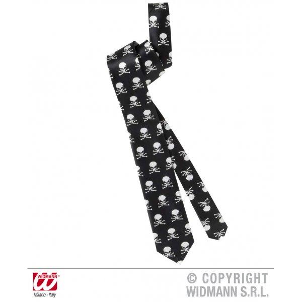 Αποκριάτικη Γραβάτα με Νεκροκεφαλές