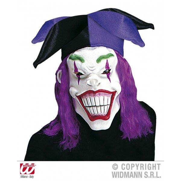 Αποκριάτικη Μάσκα Latex Τζόκερ, με Καπέλο