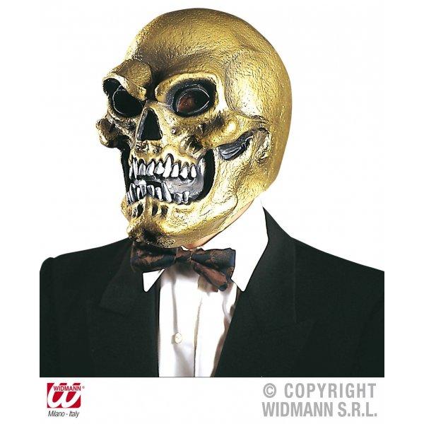 Αποκριάτικη Μάσκα Latex Νεκροκεφαλή Χρυσή