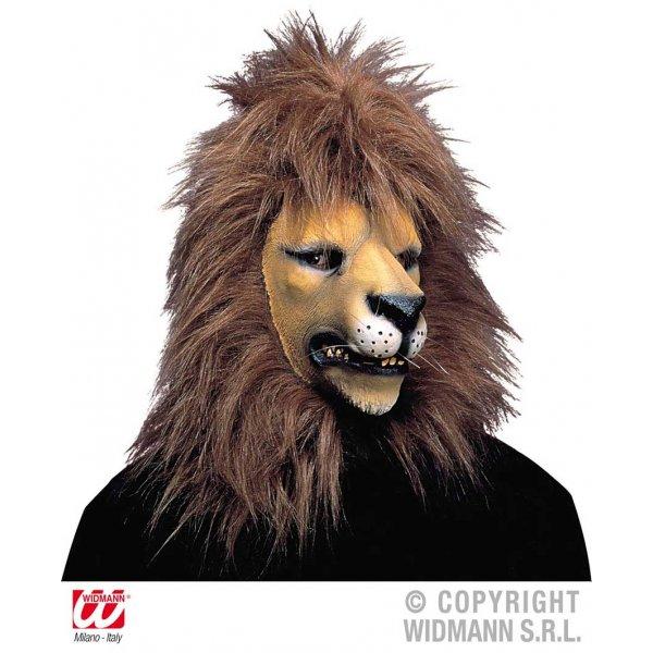 Αποκριάτικη Μάσκα Latex Λιοντάρι, με Πυκνά Μαλλιά