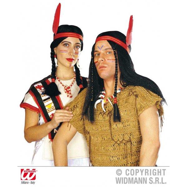 Αποκριάτικη Περούκα Ινδιάνων Ανδρική και Γυναικεία