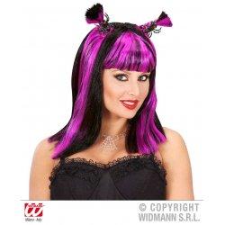 Αποκριάτικη Περούκα Halloween με Αράχνες και Νυχτερίδες - 4 Χρώματα