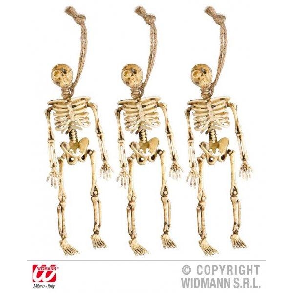 Αποκριάτικο Διακοσμητικό Τρόμου Κρεμαστοί Σκελετοί 15 cm - Σετ 3 τεμάχια