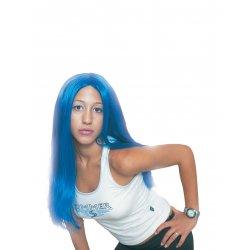 Αποκριάτικη Περούκα Σύλβια, Μπλε