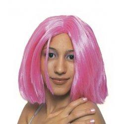 Αποκριάτικη Περούκα Ηρώ, Ροζ