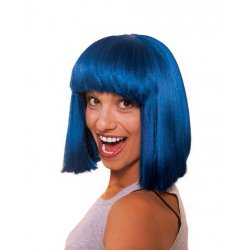 Αποκριάτικη Περούκα Σεσίλια Μπλε