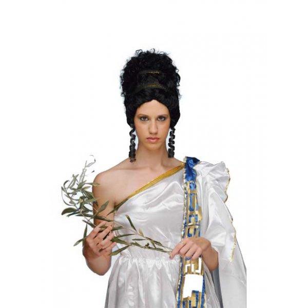 Αποκριάτικη Περούκα Αρχαία Ελληνίδα, Μαύρη