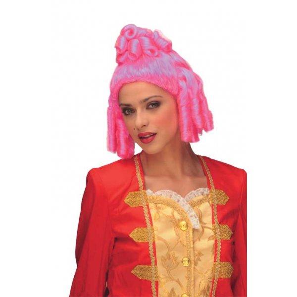 Αποκριάτικη Περούκα Μ. Πομπαντούρ, Ροζ