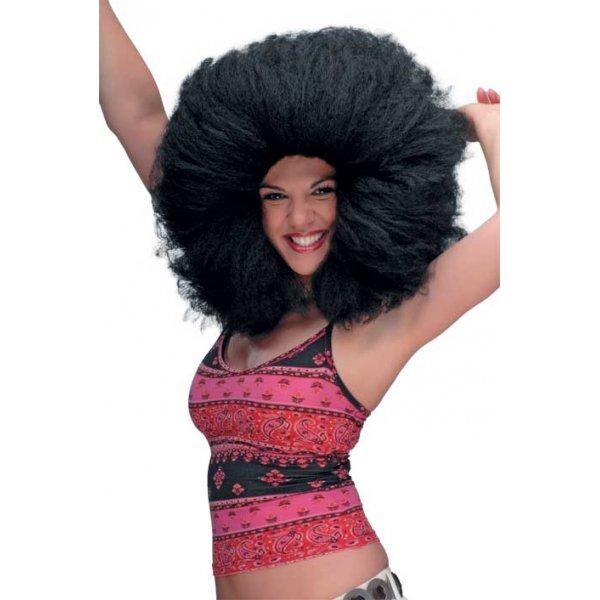Αποκριάτικη Περούκα Άφρο, Μαύρη