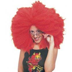 Αποκριάτικη Περούκα Άφρο, Κόκκινη