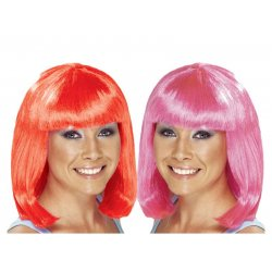Αποκριάτικη Περούκα Καρέ - 2 Χρώματα