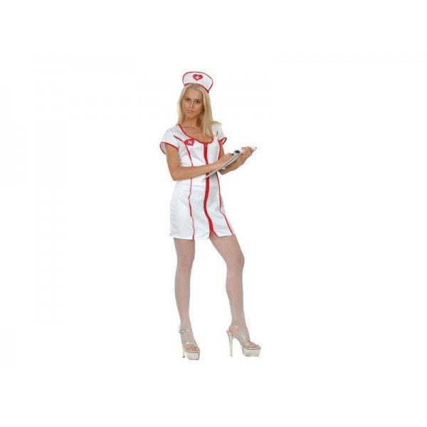 Αποκριάτικη Στολή Νοσοκόμα Σέξυ με Κόκκινες Ρίγες
