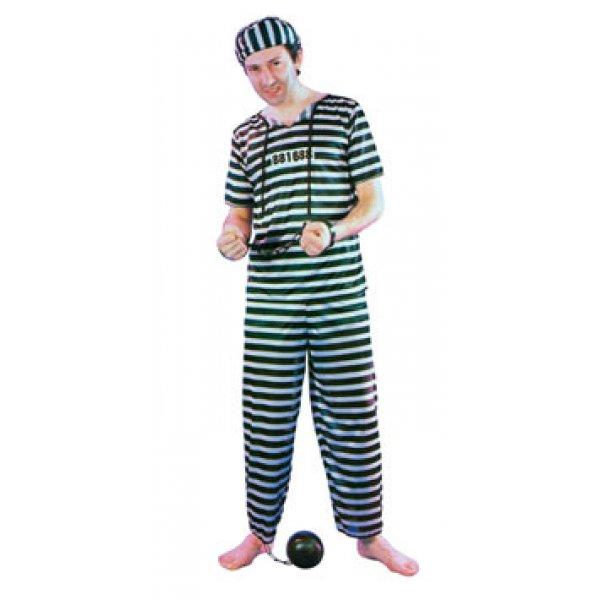 Αποκριάτικη Στολή Φυλακισμένος με Καπέλο
