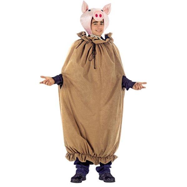 Αποκριάτικη Στολή Γουρούνι σε Σακί