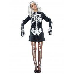 Αποκριάτικη Στολή Σκελετούλα Φόρεμα