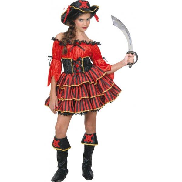 Αποκριάτικη Στολή Βασίλισσα των Πειρατών Κόκκινο