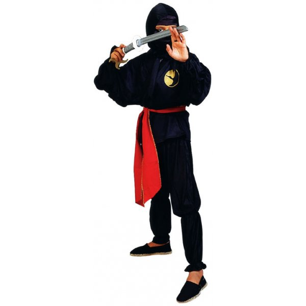 Αποκριάτικη Στολή Ninja με Κόκκινη Ζώνη