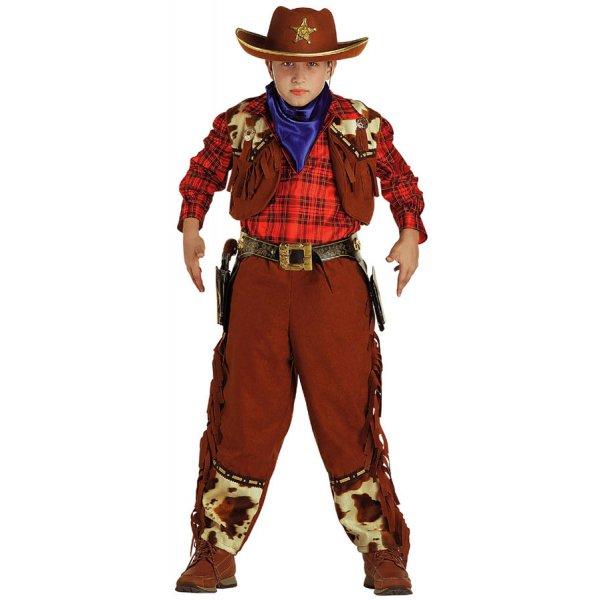 Αποκριάτικη Στολή Cowboy Αγόρι με Κόκκινο Πουκάμισο