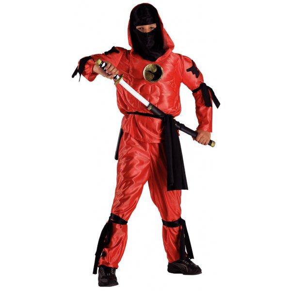 Αποκριάτικη Στολή Ninja Κόκκινος
