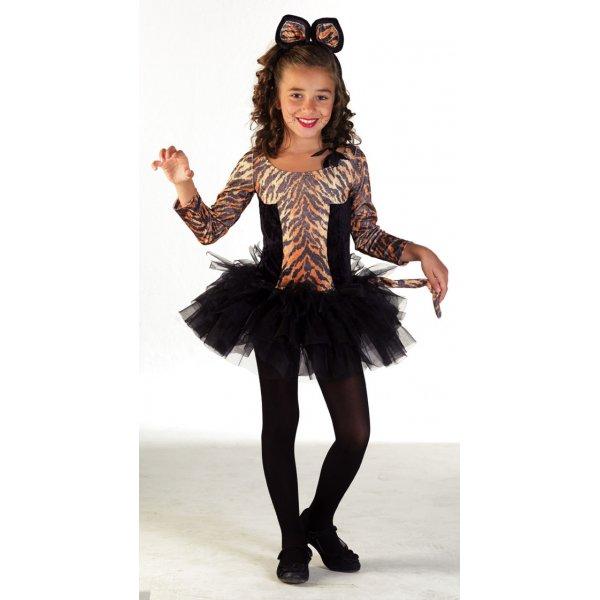 Αποκριάτικη Στολή Τίγρης Κορίτσι Φούστα