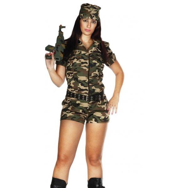 Αποκριάτικη Στολή Στρατιωτίνα Γυναίκα