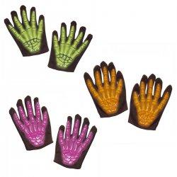 Αποκριάτικα Γάντια Σκελετού 3D Neon (3 Χρώματα)