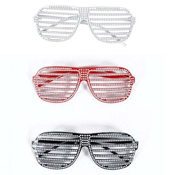 Αποκριάτικο Αξεσουάρ Γυαλιά Μόδας 3 Χρώματα Στρας