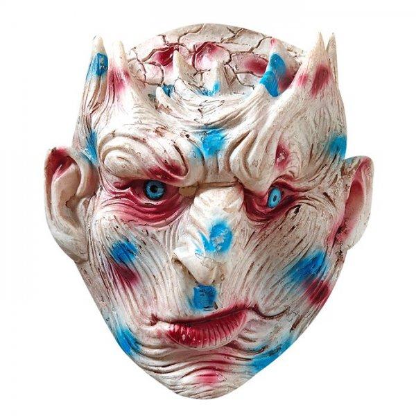 Αποκριάτικη Μάσκα Latex Κακός Λευκό Πρόσωπο