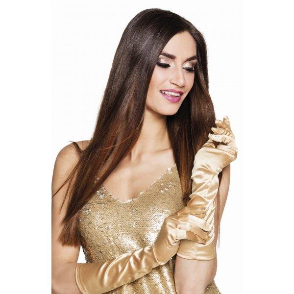 Αποκριάτικα Γάντια Χρυσά Μακριά