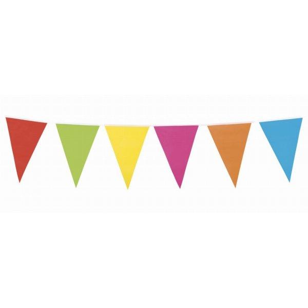 Αποκριάτικες Γιρλάντες Σημαιάκια Πολύχρωμα  (12 τεμάχια)