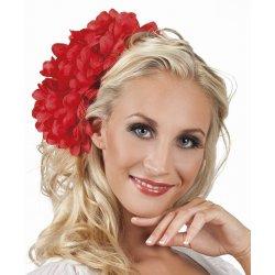 Αποκριάτικο Λουλούδι Κεφαλιού Ντάλια Κόκκινη